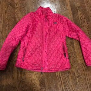 North face jacket pink
